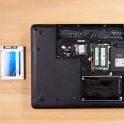 Insérer un nouveau disque dur dans un PC portable