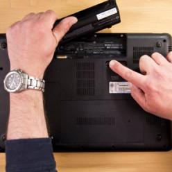 retirer la batterie d'un PC portable